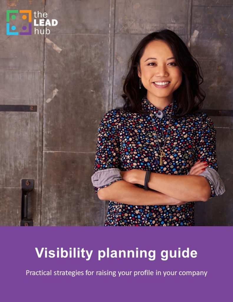 Cover page of the Visibility Planning Guide showing a female employee with crossed arms.