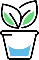 Drawing of a flower pot