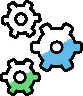 Drawing of three gears