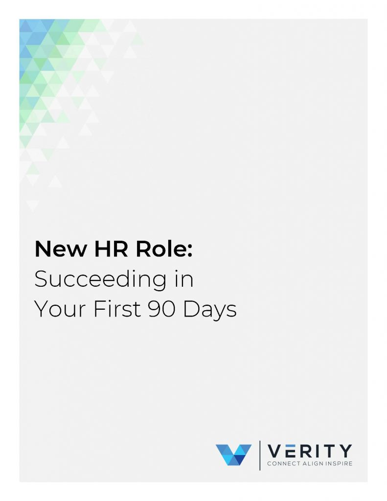 New hr role succeeding in your first 90 days title page