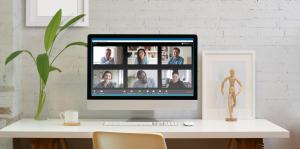 virtual meeting at home
